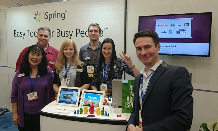 iSpring Team at the Learning Solutions expo
