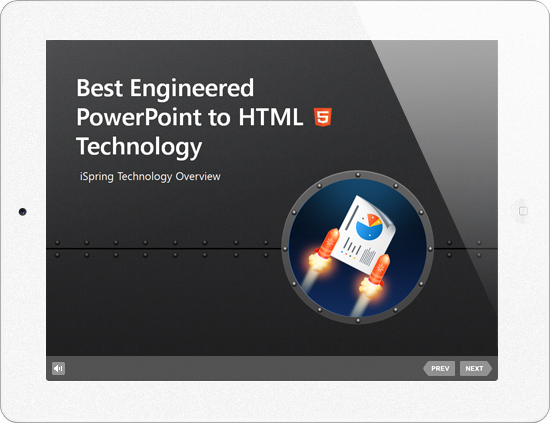 Picture 1: PowerPoint to HTML for iPad